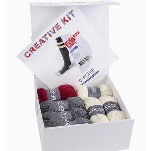 BERGERE DE FRANCE Imported Creative Kit Adult Grey Wool Socks DIY Knitting Kit